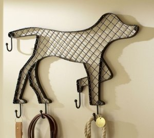 doggy row of hooks